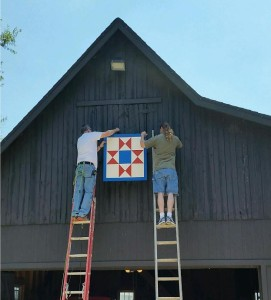 Mounting an ohio star barn quilt