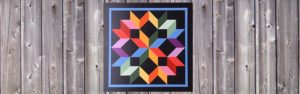 Wagon Wheel barn quilt by Ohio Barn Quilts