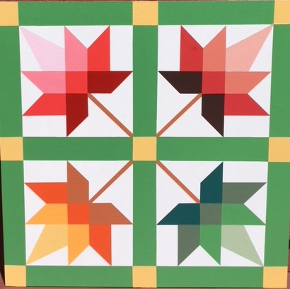 graphic about Printable Barn Quilt Patterns named Regular Measurement Barn Quilts - Ohio Barn Quilts