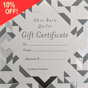 Gift certificate for barn quilt